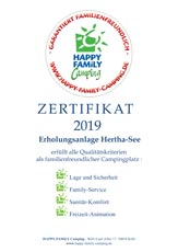 Auszeichnung - Happy Family Camping 2019