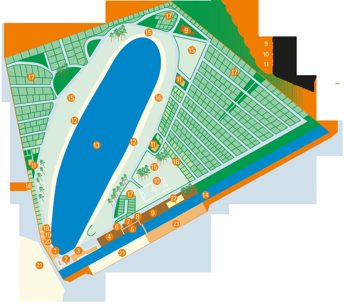 Lageplan - Erholungsanlage HERTHA-SEE