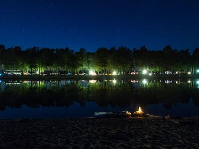 "Badesee ""HERTHA-SEE"" - Bei Nacht"