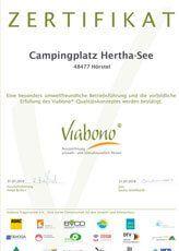 Auszeichnung - Zertifikat Viabono 2016